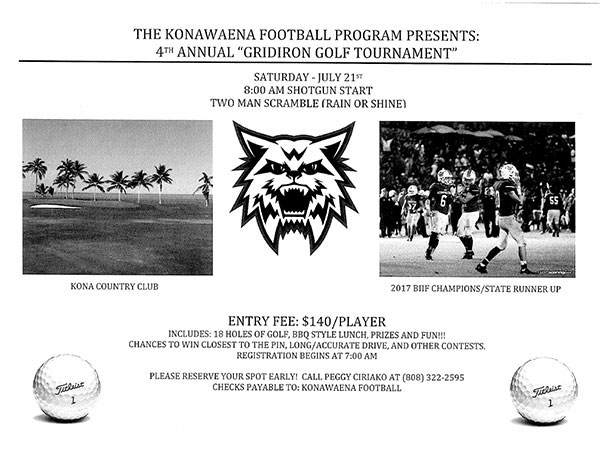4th Annual Gridiron Golf Tournament Flyer